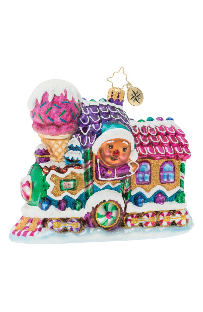 CHRISTOPHER RADKO Livin' La Vida Locomotive Ornament, Main, color, PINK