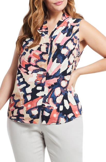Nic + Zoe Tops ALL AFLUTTER SLEEVELESS TOP