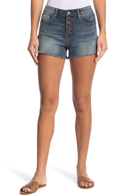 Image of Vigoss High Waisted Button Front Cutoff Shorts