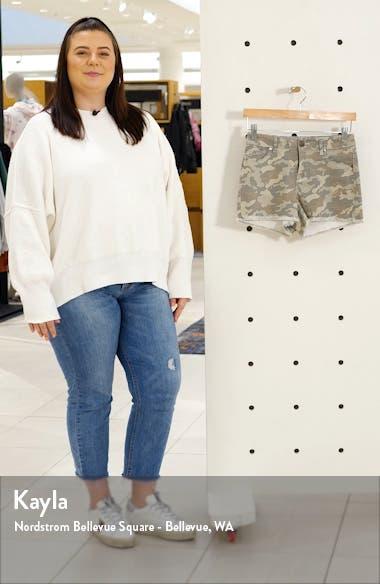 Frayed Camo Denim Shorts, sales video thumbnail