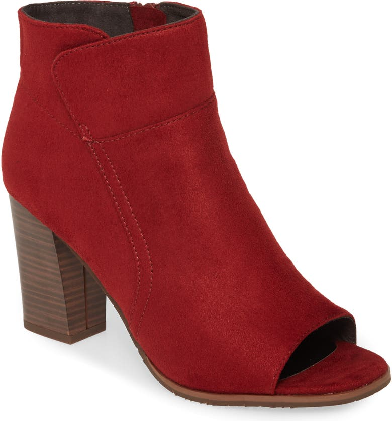 BC FOOTWEAR Scale Vegan Bootie, Main, color, BURGUNDY FABRIC