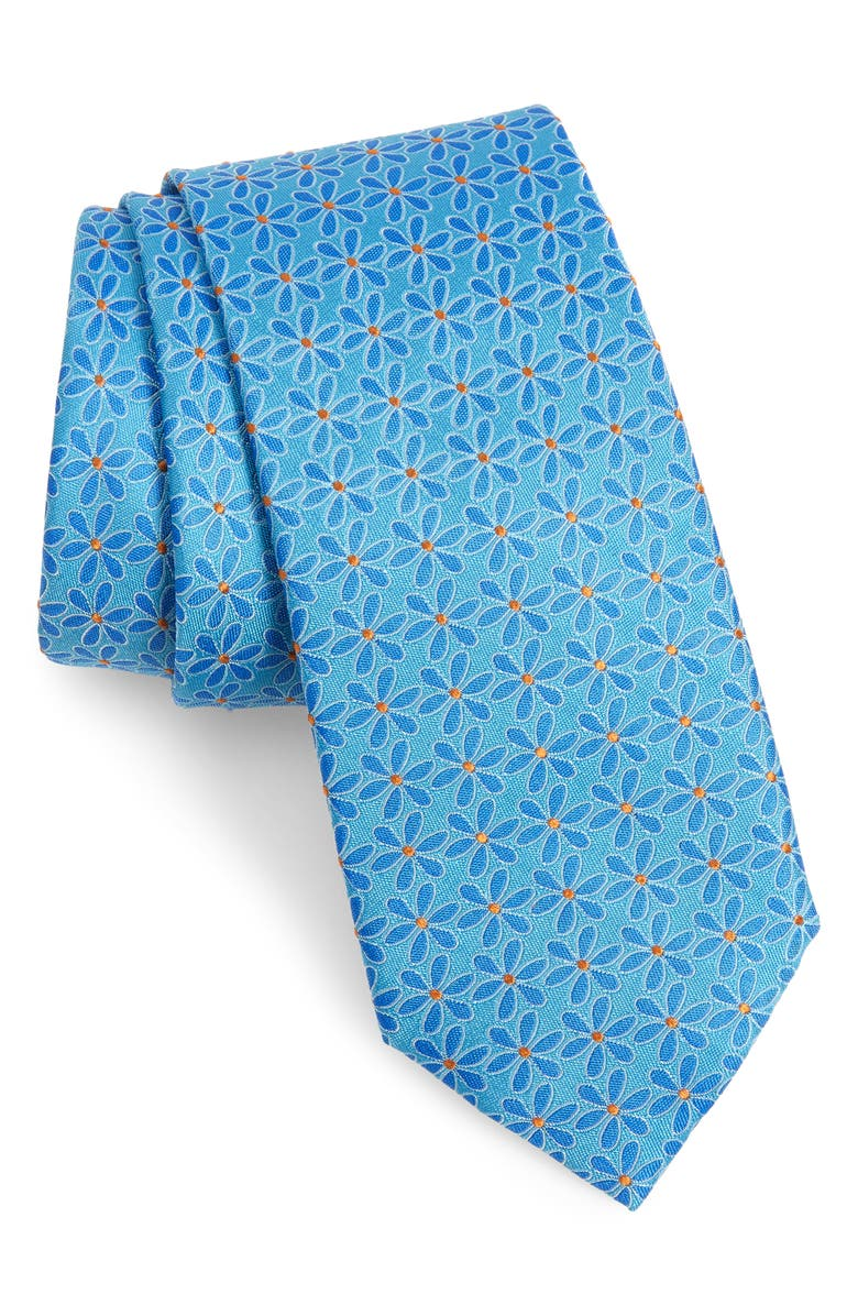 SOUTHERN TIDE Taus Floral Silk Tie, Main, color, 440