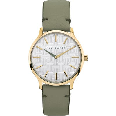 Ted Baker London Poppiey Leather Strap Watch,