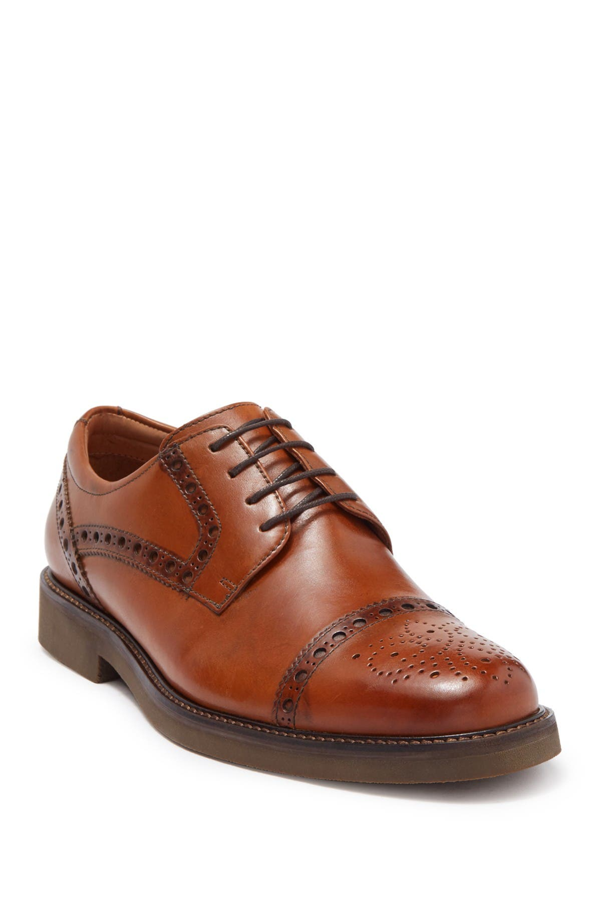Image of Marc Joseph New York Banks Brogue Cap Toe Derby
