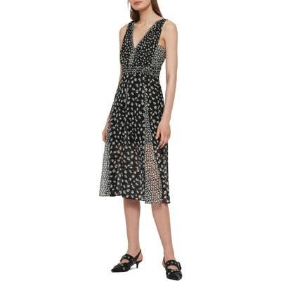 Allsaints Macella Scatter A-Line Dress, Black