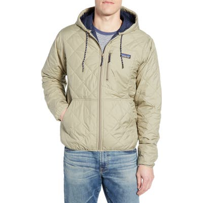 Patagonia Weather Resistant Thermogreen Insulated Recycled Ripstop Hooded Jacket, Grey