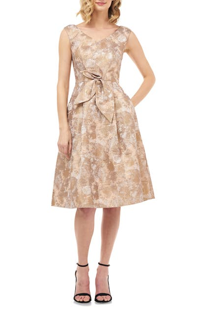 Kay Unger Dresses CHLOE BIRDS OF PARADISE FIT & FLARE DRESS