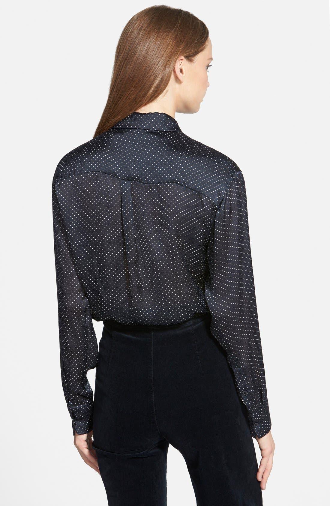 ,                             Alexa Chung for AG 'Dottie' Silk Shirt,                             Alternate thumbnail 2, color,                             401