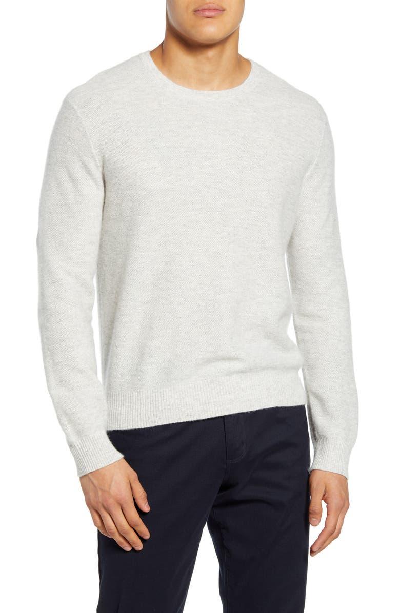 VINCE Crewneck Linen & Cashmere Sweater, Main, color, 065