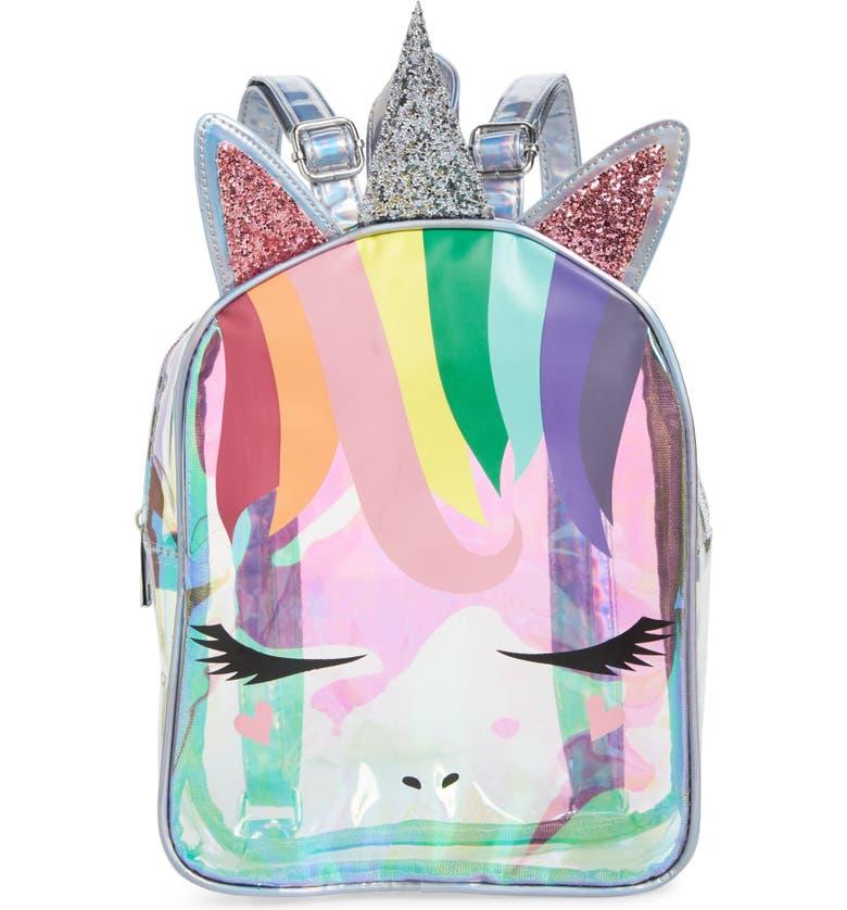 OMG Rainbow Unicorn Mini Backpack, Main, color, 960