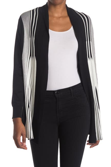 Image of Cyrus Patterned Open Front Cardigan