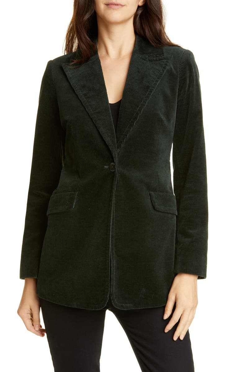 KATE SPADE NEW YORK modern stretch cotton corduroy blazer, Main, color, 367