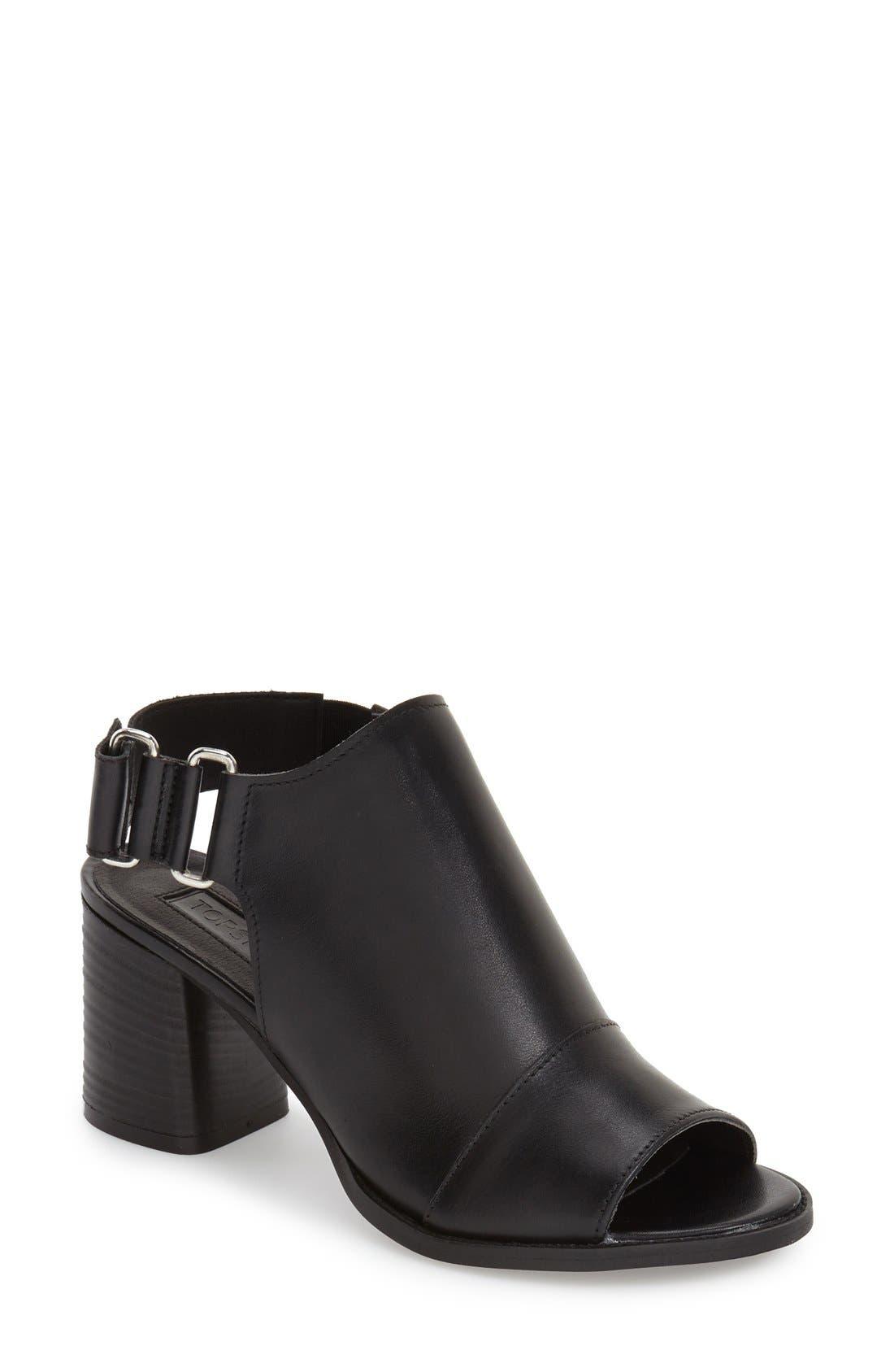 ,                             'Nimi' Slingback Round Heel Sandal,                             Main thumbnail 1, color,                             001
