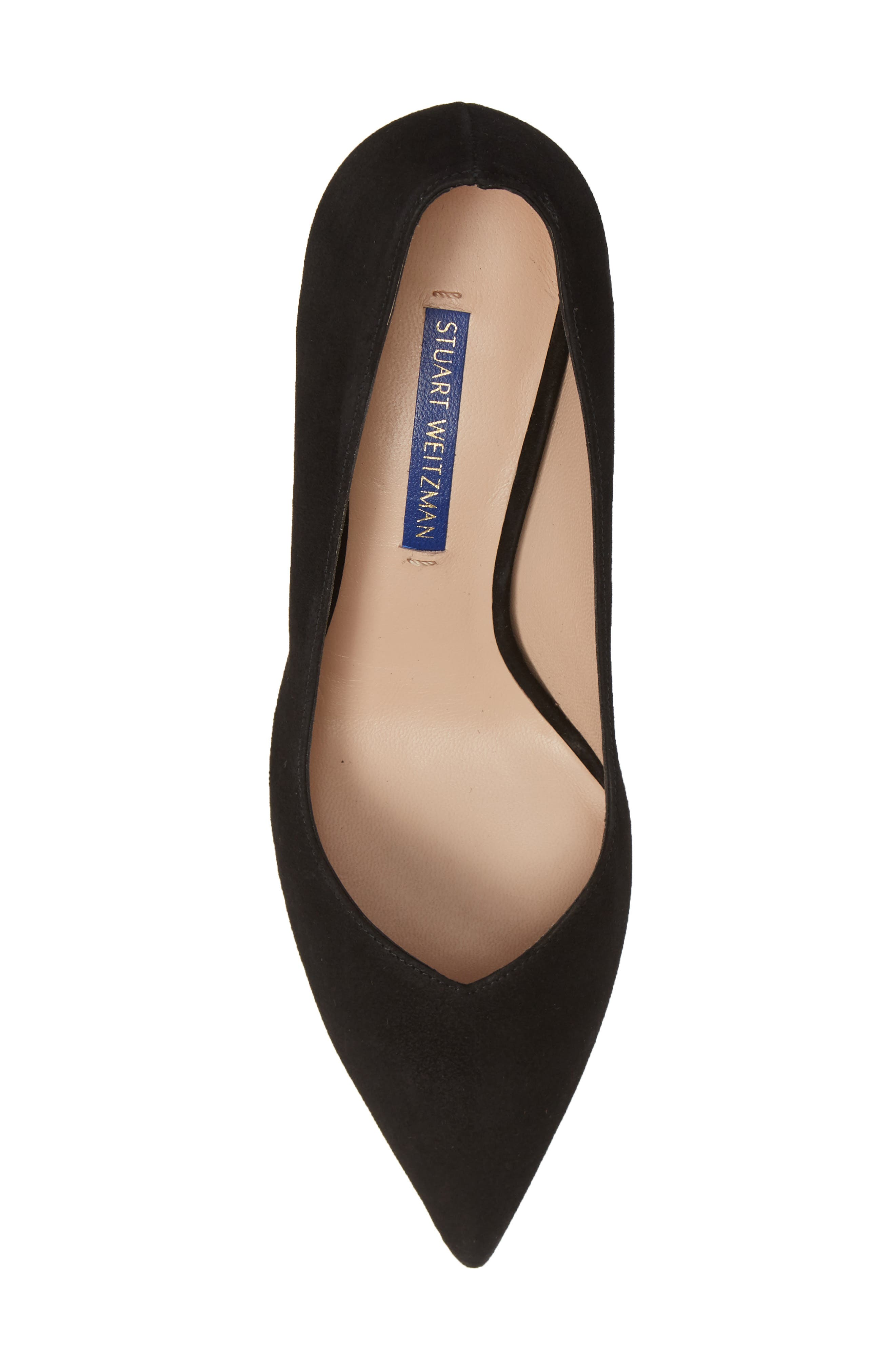 ,                             Anny Pointy Toe Pump,                             Alternate thumbnail 5, color,                             BLACK SUEDE