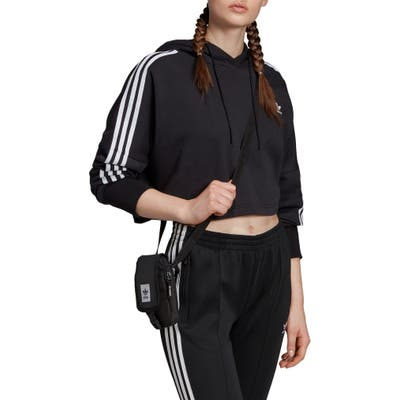 Adidas Originals Crop Hoodie, Black