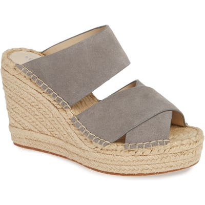 Kenneth Cole New York Olivia Wedge Slide Sandal, Grey