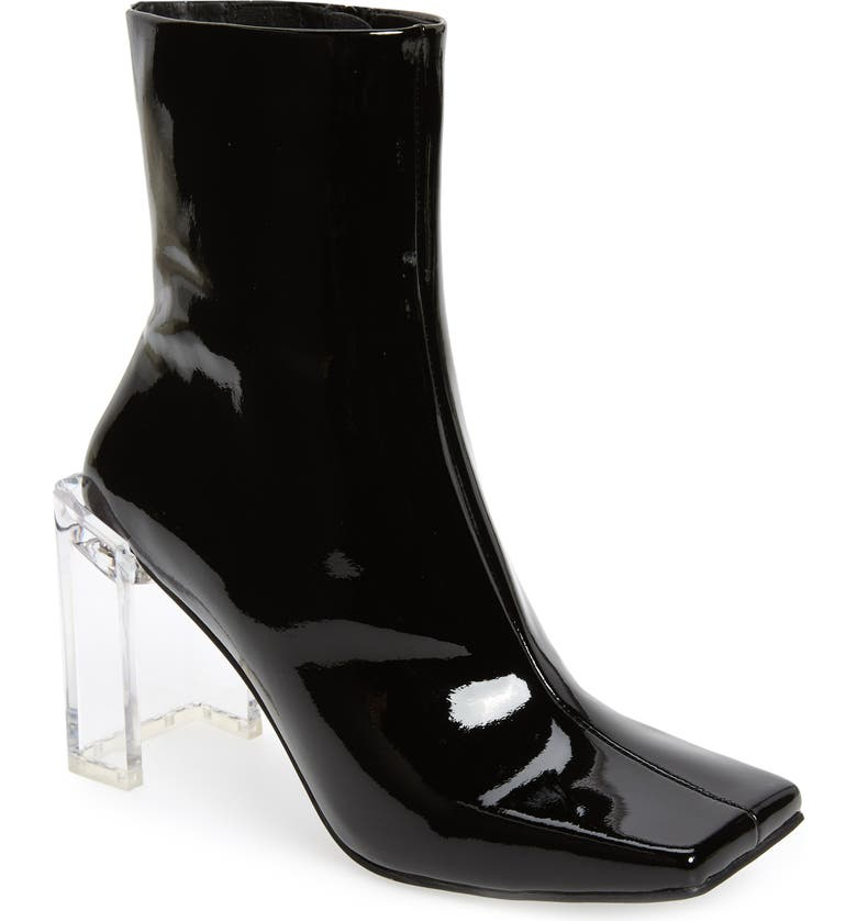 JEFFREY CAMPBELL Kayak 2 Bootie, Main, color, BLACK PATENT LEATHER