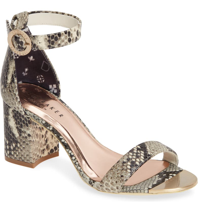 TED BAKER LONDON Manyap Sandal, Main, color, SNAKE LEATHER