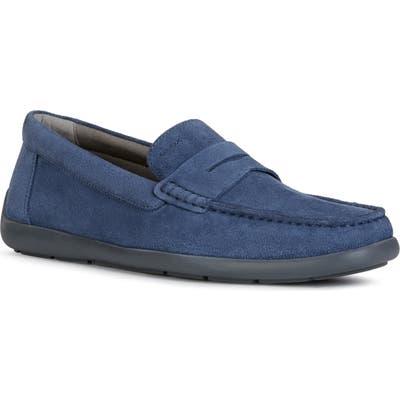 Geox Devan 1 Driving Shoe, US / 44EU - Blue