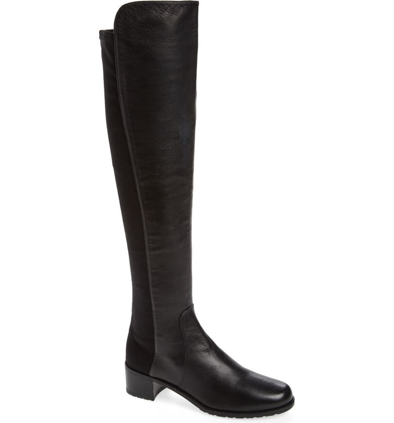 STUART WEITZMAN 'Reserve' Over the Knee Boot, Main, color, BLACK NAPPA