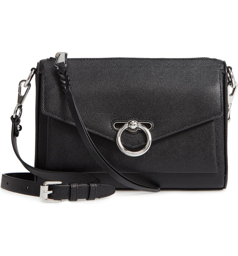 REBECCA MINKOFF Jean MAC Convertible Crossbody Bag, Main, color, BLACK