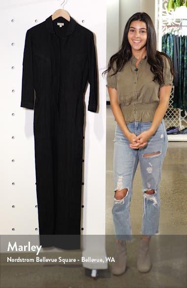 Machina Cotton and Linen Blend Jumpsuit, sales video thumbnail