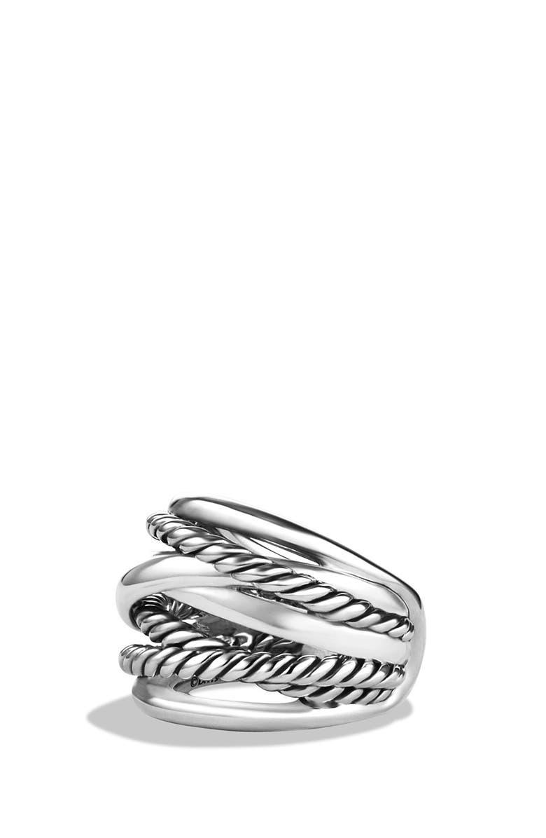 DAVID YURMAN 'Crossover' Wide Ring, Main, color, SILVER