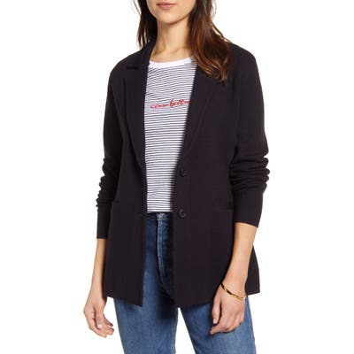1901 Stretch Wool Blend Sweater Blazer, Blue