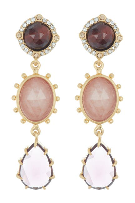 Image of kate spade new york small linear drop earrings