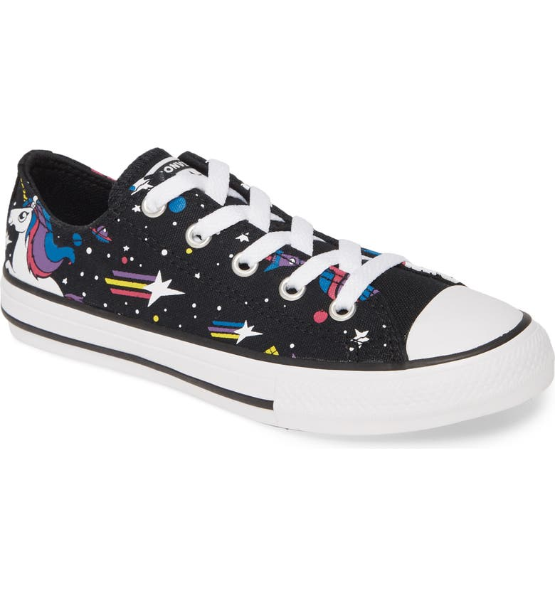 CONVERSE Chuck Taylor<sup>®</sup> All Star<sup>®</sup> Unicorns Low Top Sneaker, Main, color, BLACK/ MOD PINK/ WHITE