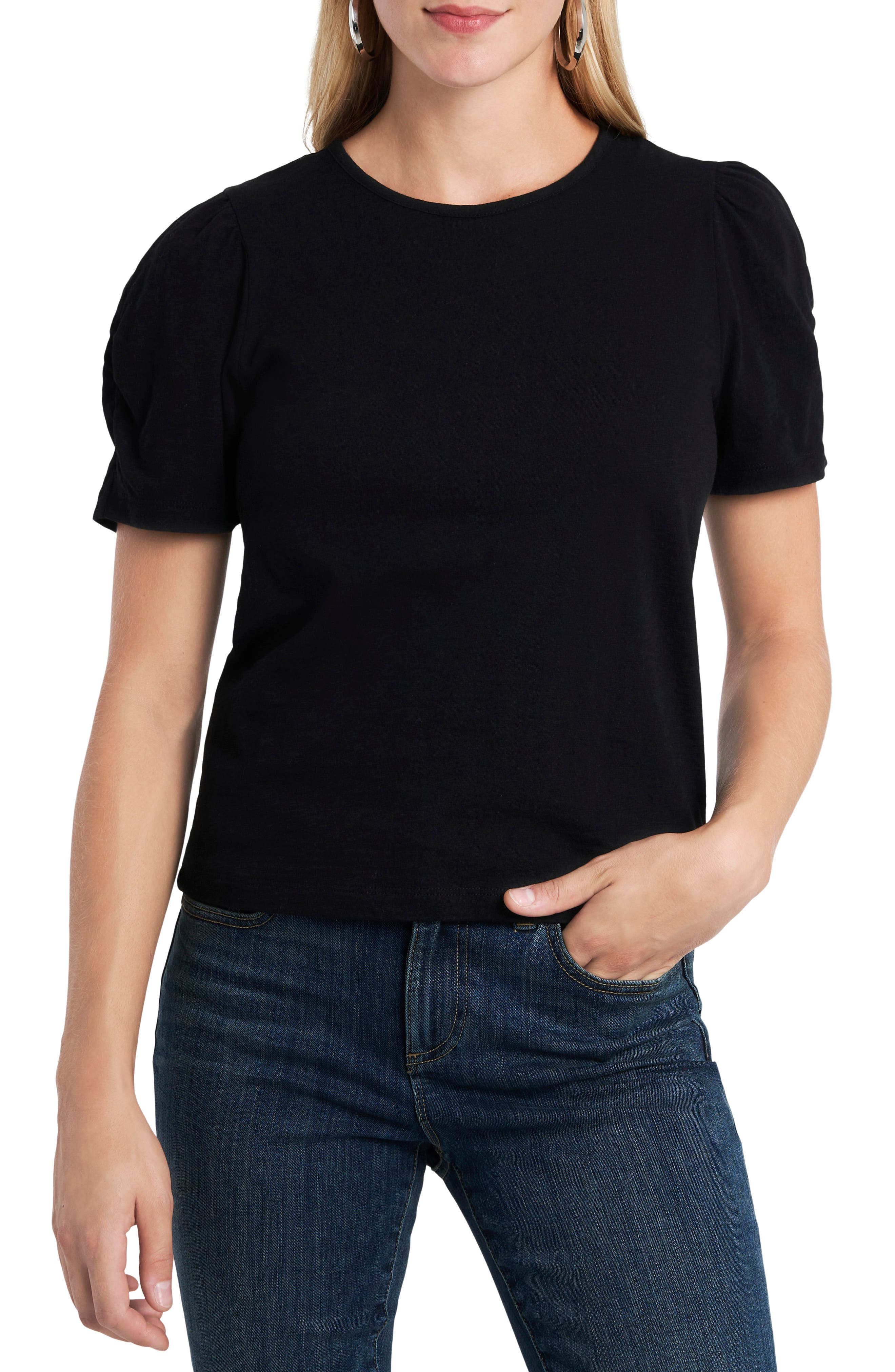 1.STATE Puff Ruched Sleeve T-Shirt | Nordstrom