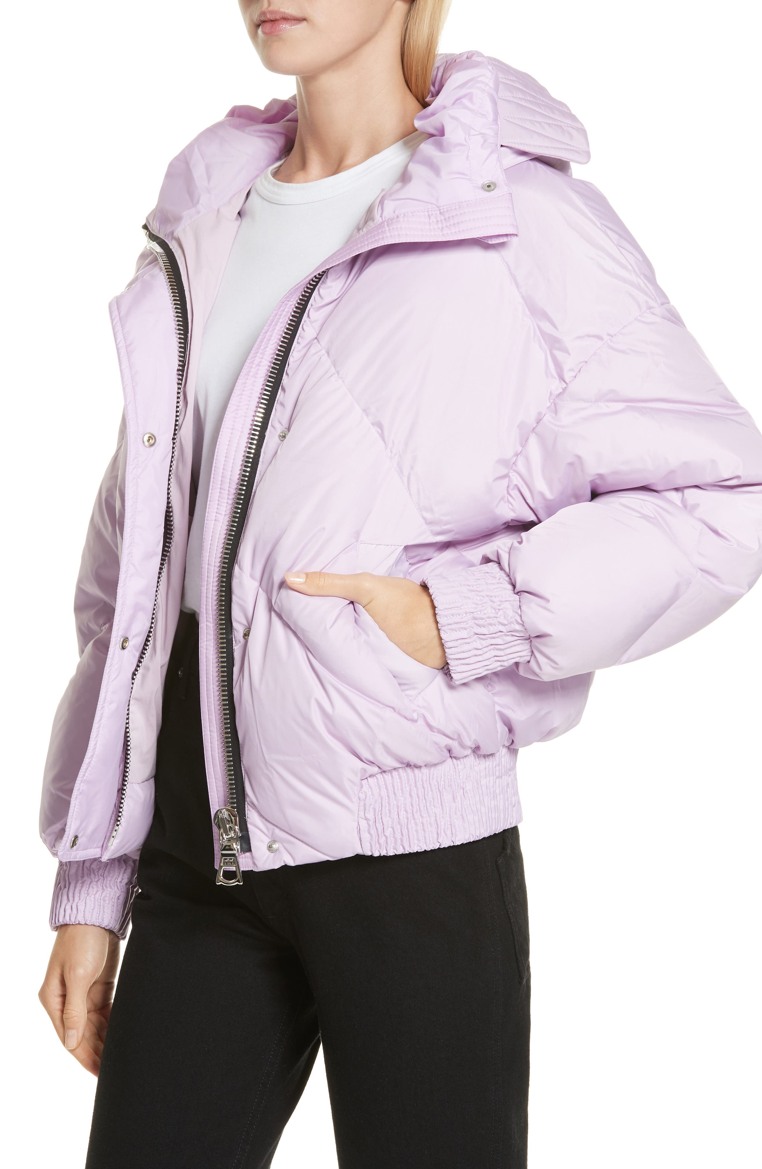 ,                             Dunlope Hooded Down Puffer Coat,                             Alternate thumbnail 4, color,                             MAURI CRISTAL