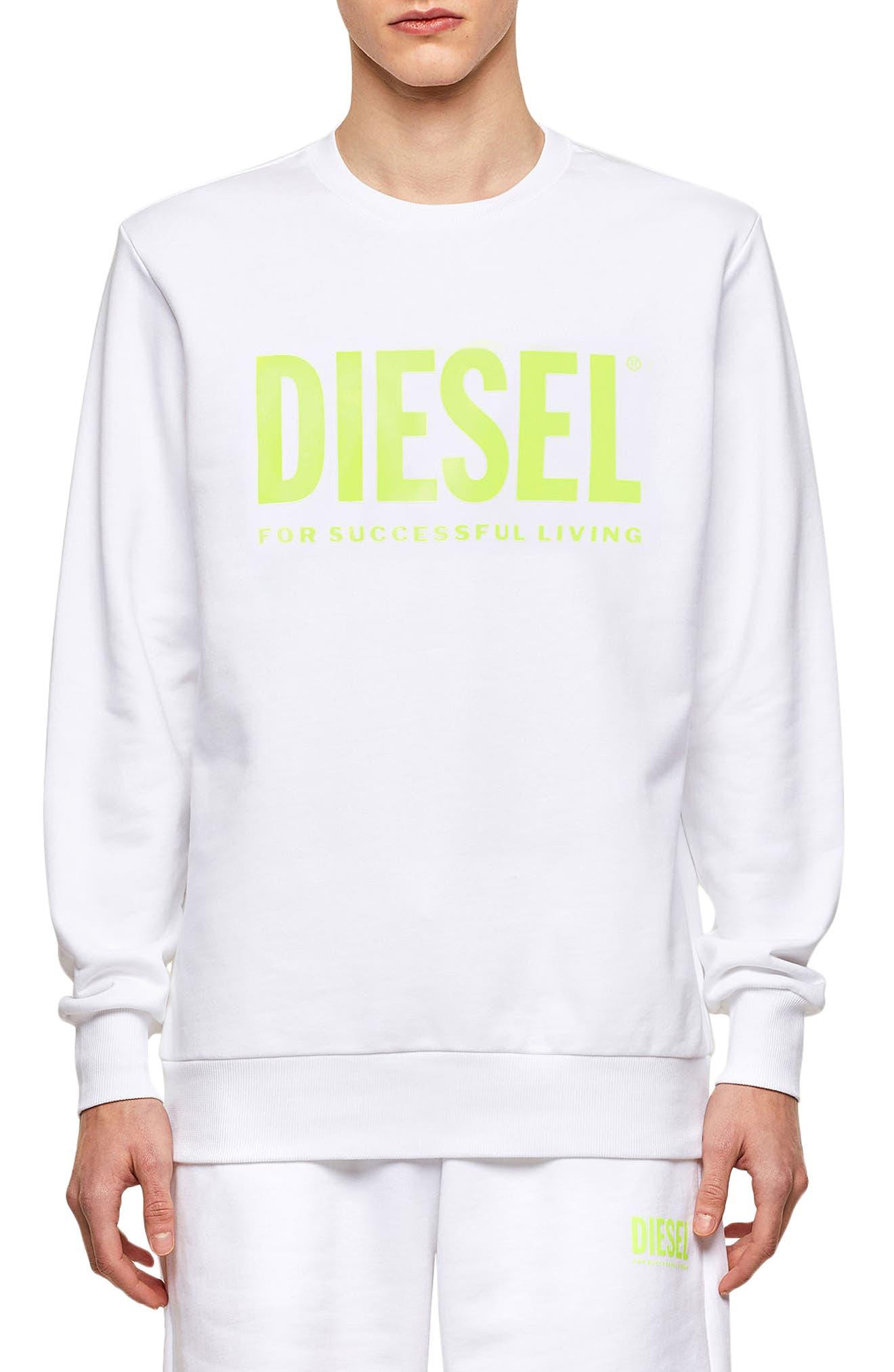 Men's Diesel S Gir Division Logo Graphic Crewneck Sweatshirt