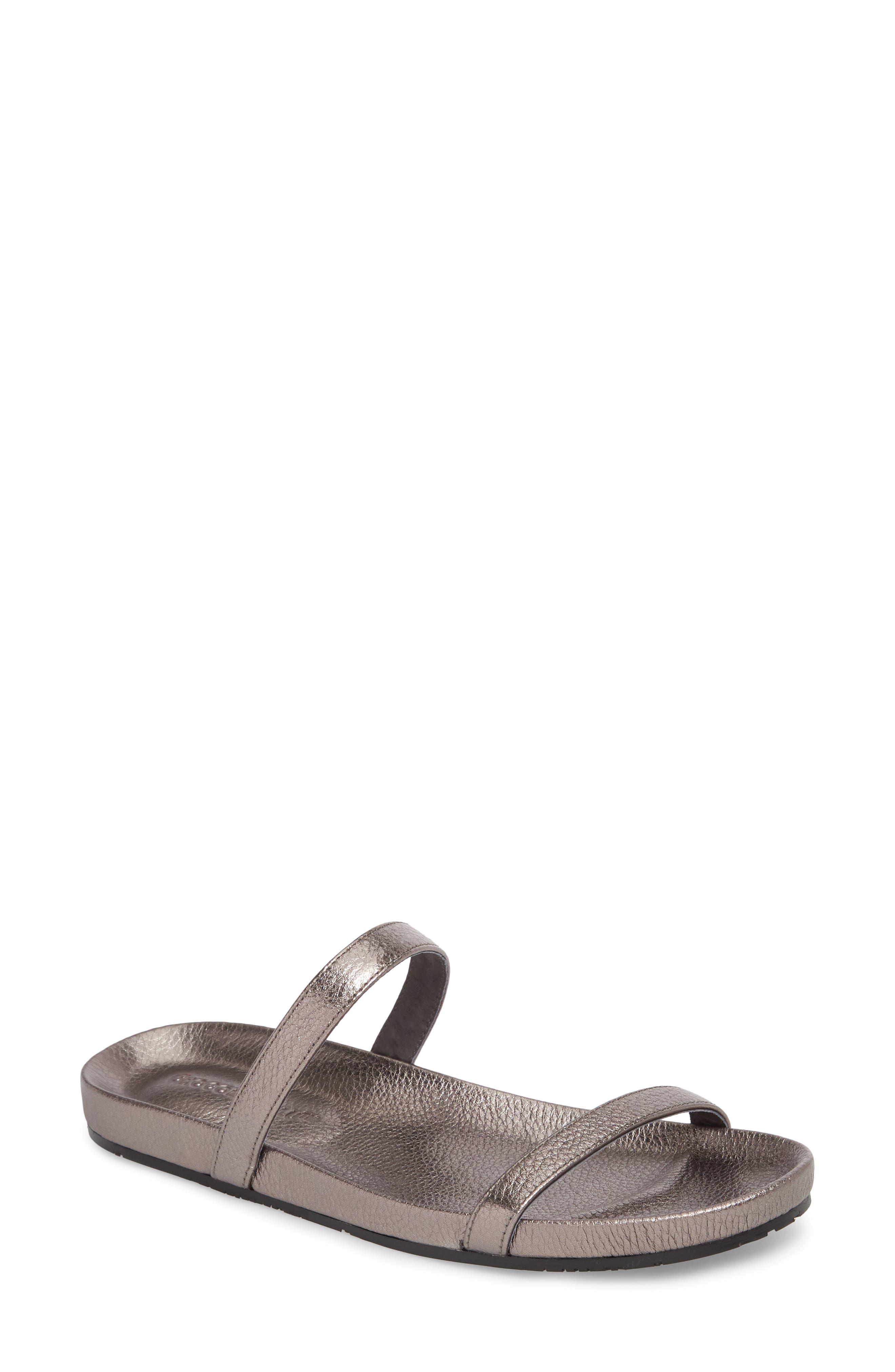 Chocolat Blu Yale Two-Strap Sandal, Metallic