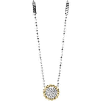 Lagos Diamond Caviar Circle Pendant