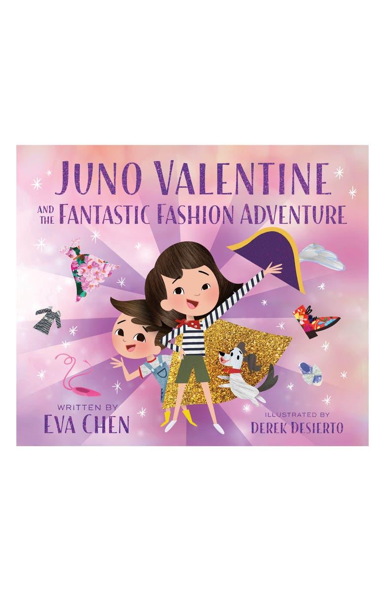 MACMILLAN 'Juno Valentino and the Fantastic Fashion Adventure' Book, Main, color, PURPLE / BROWN / GOLD
