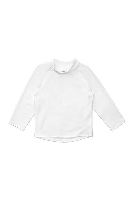 Image of Leveret Long Sleeve UPF +50 Rash Guard - White