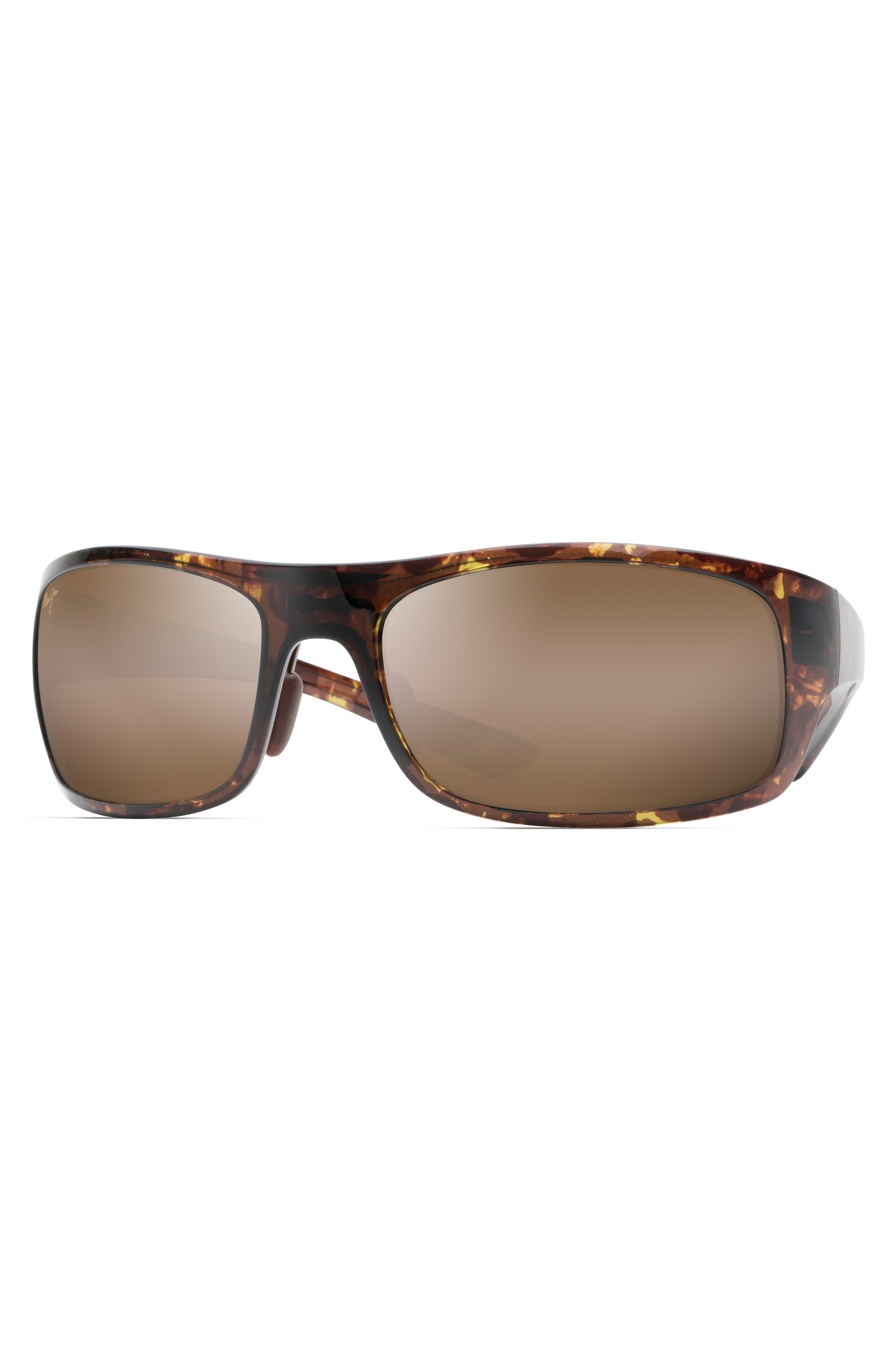 Big Wave 67mm Polarized Wraparound Sunglasses