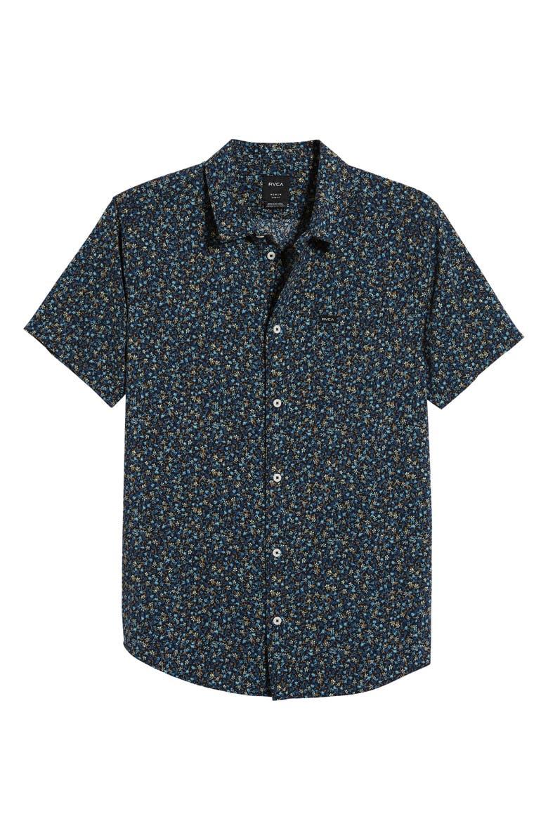 RVCA Revivalist Regular Fit Floral Print Shirt, Main, color, 453