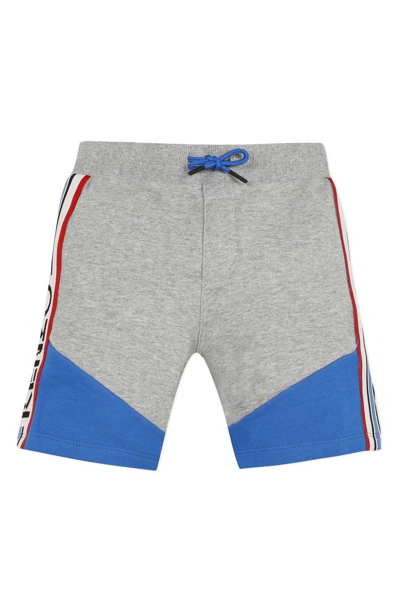 KENZO Logo Tape Fleece Shorts, Main, color, MARL GREY