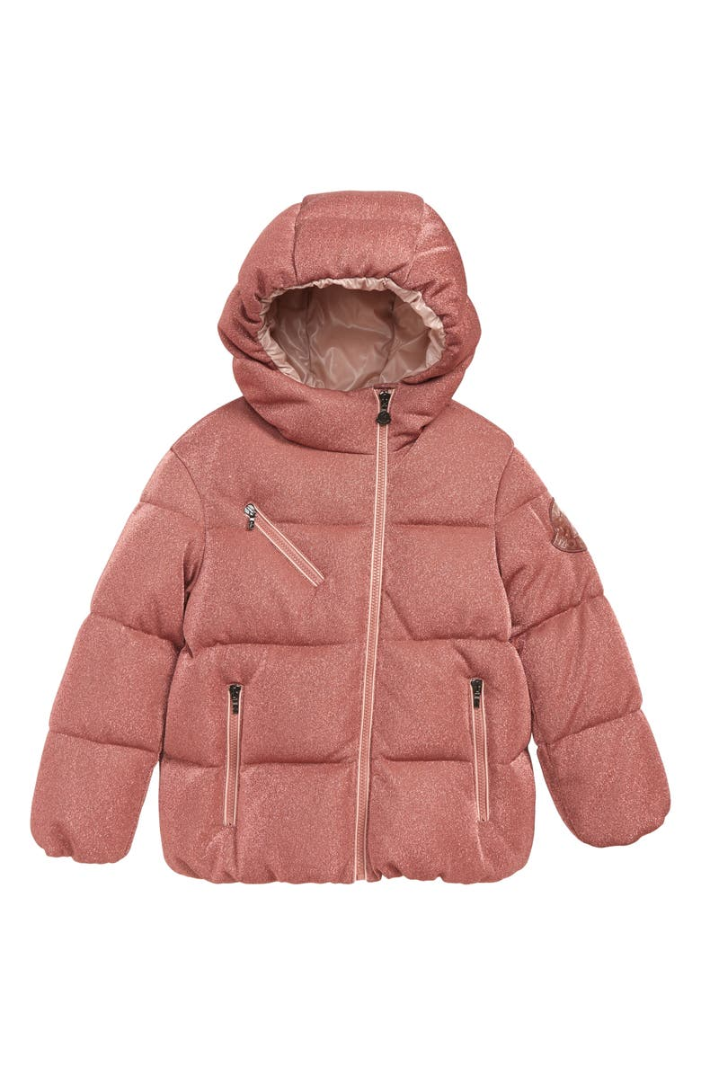 53647cb75 Moncler Taurua Sparkle Down Insulated Hooded Jacket (Big Girls ...