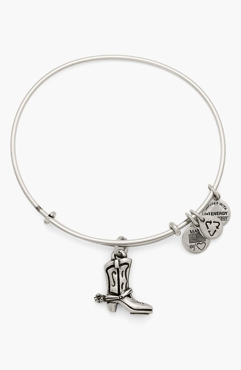 ALEX AND ANI 'Charity by Design - Cowboy Boot' Expandable Wire Bracelet, Main, color, 040