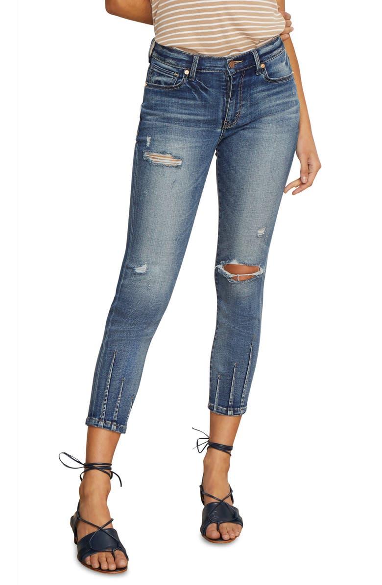 HABITUAL Marina Dart Hem Ankle Skinny Jeans, Main, color, 425
