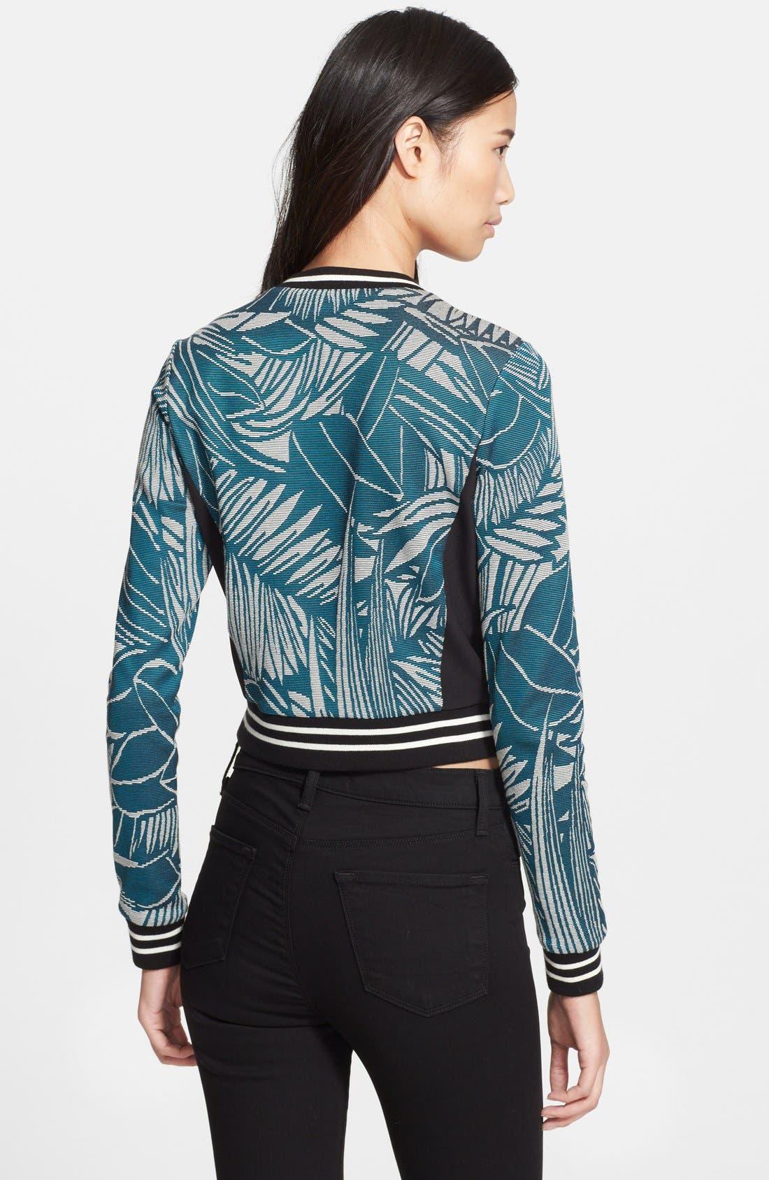 ,                             Palm Jacquard Jersey Sweater,                             Alternate thumbnail 3, color,                             401