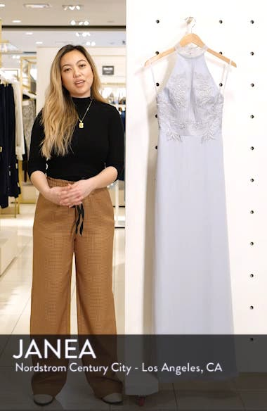 Jocelyn Lace Bodice Evening Dress, sales video thumbnail