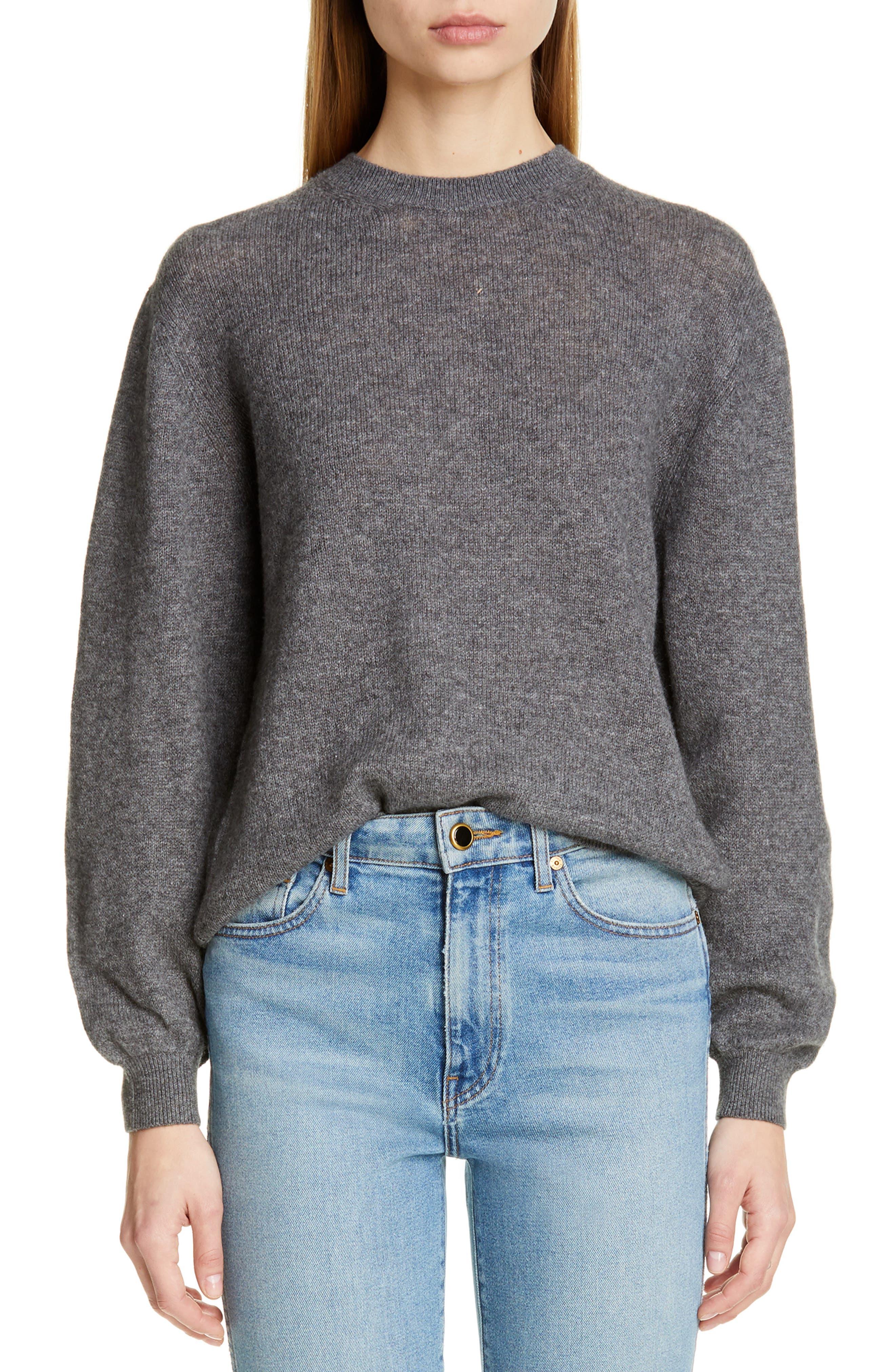 Viola Cashmere Sweater, Main, color, GREY
