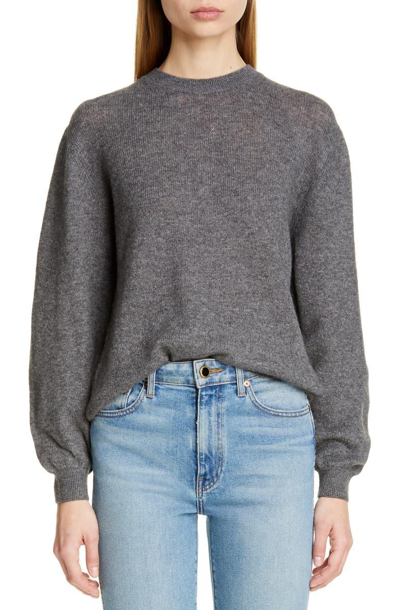 KHAITE Viola Cashmere Sweater, Main, color, GREY