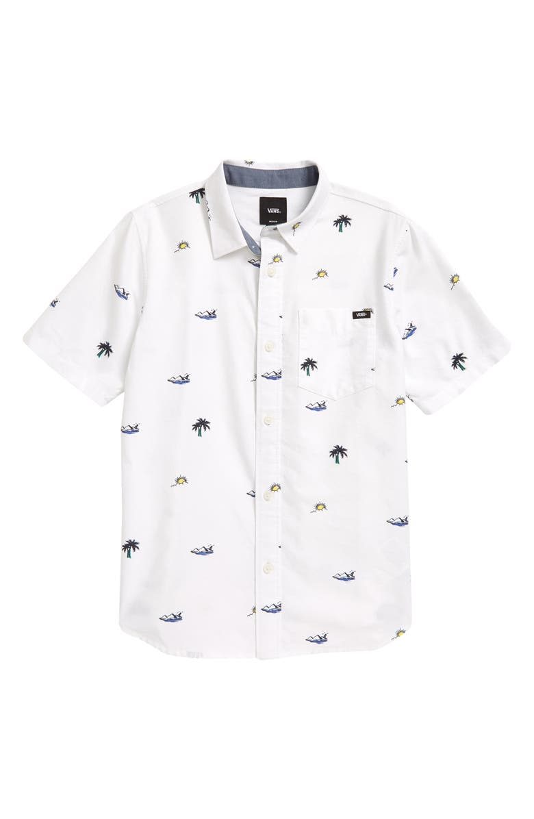 VANS Kids' Houser Button-Up Shirt, Main, color, WHITE