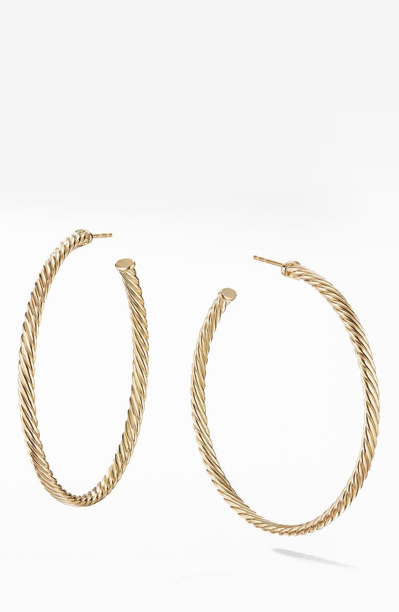DAVID YURMAN Cable Spiral Hoop Earrings, Main, color, 710