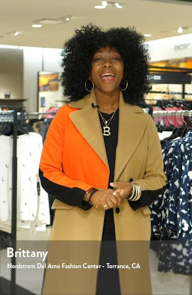 Chevron Stripe Tweed Blazer, sales video thumbnail